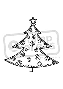 A7 'Christmas Tree' Unmounted Rubber Stamp (SP00009014)