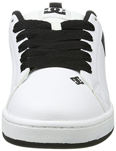 Dc Shoes Mens Court Graffik Se Läder Utbildare Vit Kol
