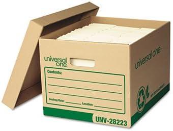 Reciclado Record caja de almacenaje, carta/Legal, 12 x 15 x 10, papel kraft, 12/Carton: Amazon.es: Oficina y papelería