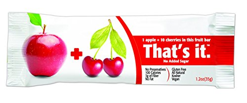 That's It Apple Cherry Snack Bar Gluten Free 1.2 oz, Pack of 144 by That's It