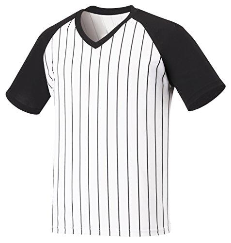 myglory77mall Vneck Pinstripe Baseball Raglan Coolmax Dryfit Tshirts Jersey Top US M(L tag) Black