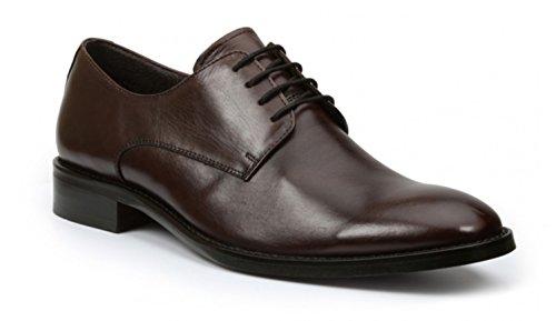 Toe Giorgio Brown Alton Oxford Shoes Dress Plain Leather Brutini wZT6qxIZS
