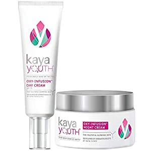 Kaya Youth Oxy-Infusion Day Cream, with SPF 15,Gives youthful glowing skin – Kaya Youth Oxy-Infusion Night Cream, Boosts…