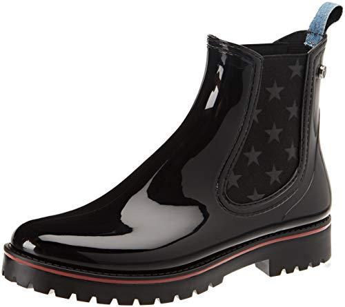 nero De Bottines Bottes Noir Jeans Trussardi Boot Femme Rubber Pluie K299 zqwfXZCp