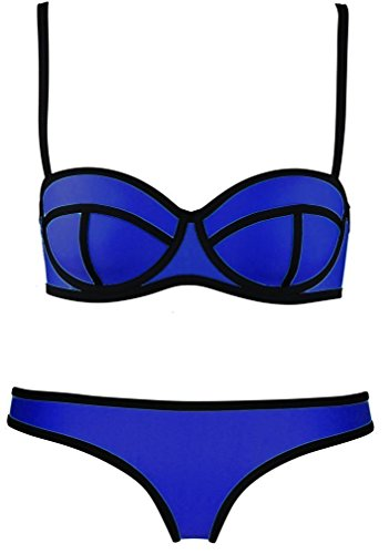 Sexy Women's Structured Bright Wet Suit Hot Bikini Set Swimsuit Swimwear Beachwear Royal BlueMedium - Canada Swimming Wetsuits