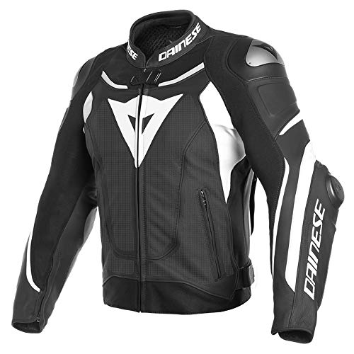 Price comparison product image Dainese Super Speed 3 Mens Perforated Leather Jacket Black / White 52 EUR / 42 USA