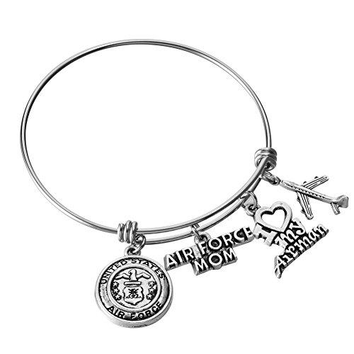 US Military Mom/Wife Charm Bracelets (Air Force Mom)