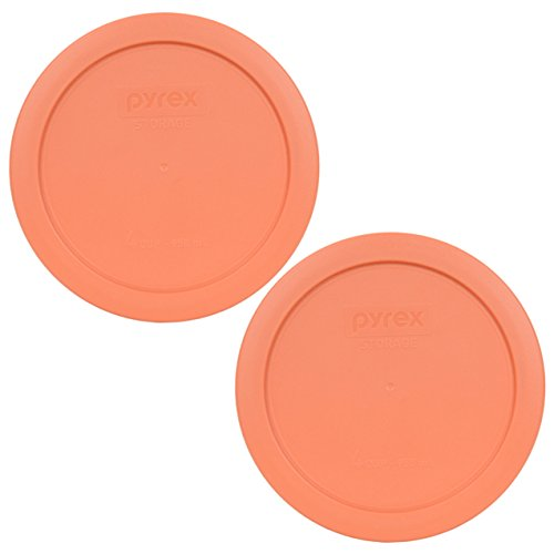 Pyrex 7201-PC Round 4 Cup Storage Lid for Glass Bowls (2, Light Orange)