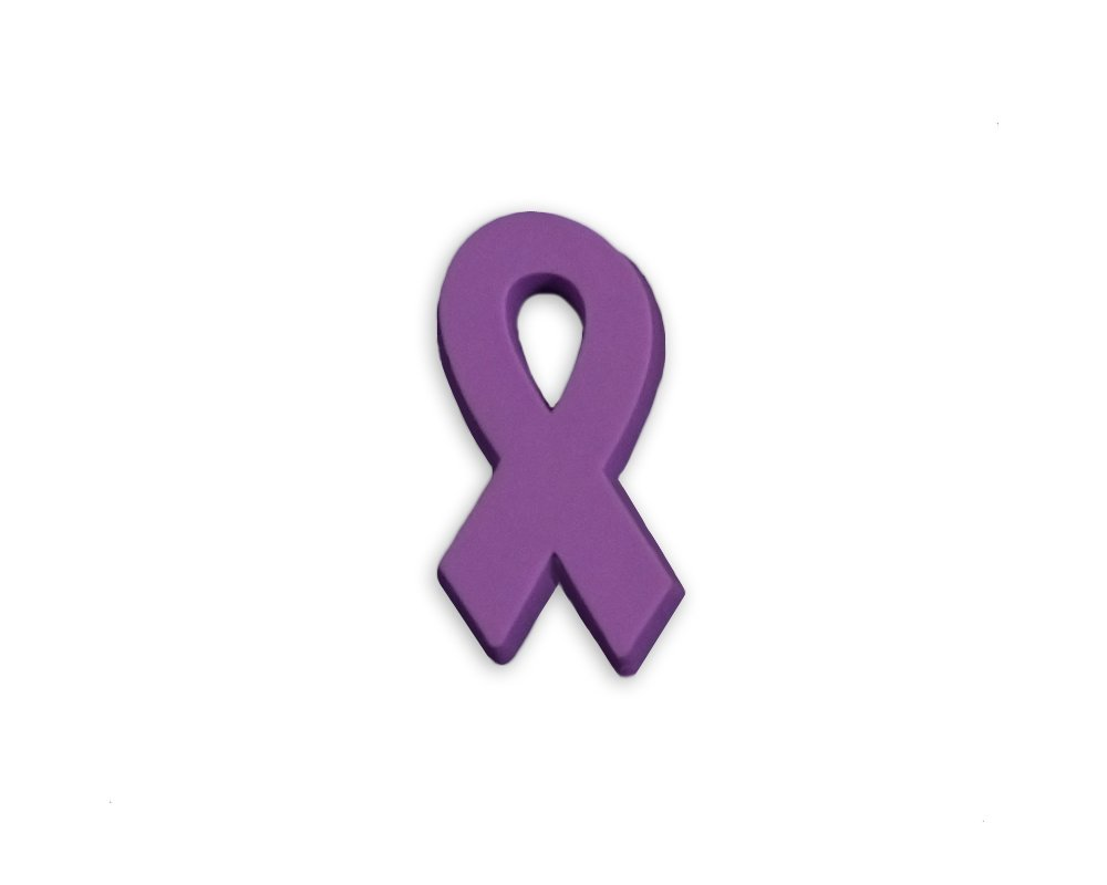 50 Pack Domestic Violence Awareness Silicone Ribbon Pins (50 Pins in a Bag) by Fundraising For A Cause