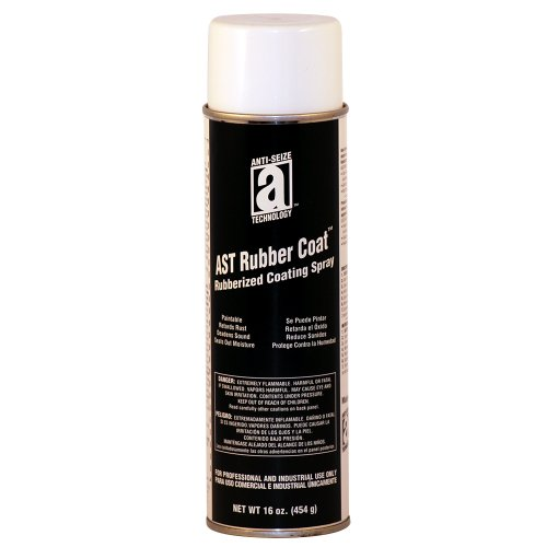 ANTI-SEIZE TECHNOLOGY 17048 AST-Rubber Coat Spray Rubberized Coating Spray, Glossy Black, 16 oz.