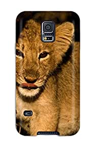 2653946K56599929 Tpu Case For Galaxy S5 With Artistic Lion Wall