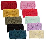 Qandsweet Baby Girl's Headbands and Bows Hair Accessories (Value Set of 10Pcs)