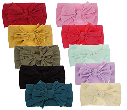 Qandsweet Baby Girl's Headbands and Bows Hair Accessories (Value Set of ()