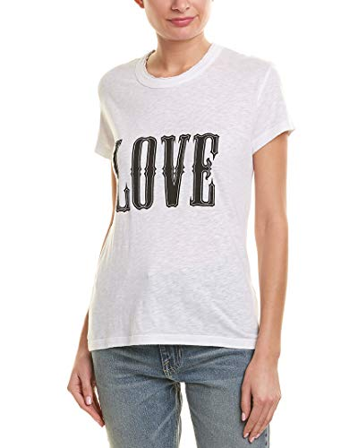 Zadig & Voltaire Womens Walk Chine T-Shirt, S, White, used for sale  Delivered anywhere in USA
