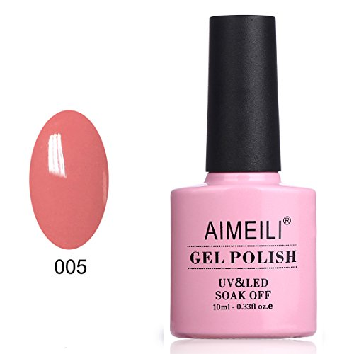 (AIMEILI Soak Off UV LED Gel Nail Polish - Rose Bud (005))