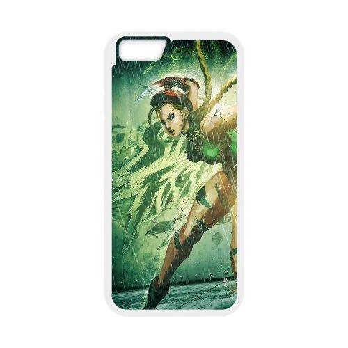 Street Fighter X Tekken, Cammy, Girl, Legs, Tattoo, Hand coque iPhone 6 4.7 Inch cellulaire cas coque de téléphone cas blanche couverture de téléphone portable EEECBCAAN04424