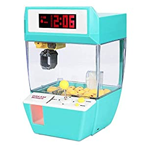 Toyk Kids Mini Candy Claw Machine Toys Indoor Arcade Game Alarm Clock Boys Girls Music Sounds Coin Prizes