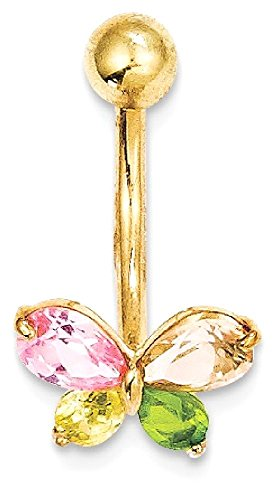 Butterfly Gold Belly Button Ring - 9