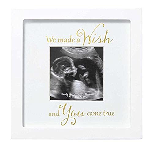 Sonogram Frame covered in White Leather w// 2 photos- 1 for the ...