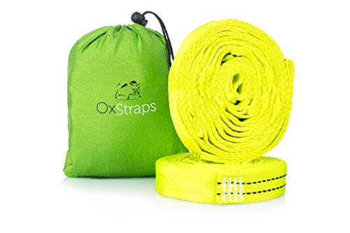 Hammock Straps XL | Easiest Way to Hang Any Hammock on Any Tree -Don't Risk Your Back | Camping Accessories Include Ultralight Suspension Strap + 30 Adjustable Loops + Portable Pouch + Free eBook