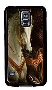 Samsung Galaxy S5 3D horse 3 PC Custom Samsung Galaxy S5 Case Cover Black