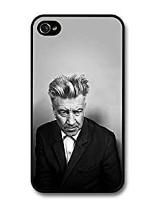 David Lynch Black & White Portrait Director Filmmaker case for iPhone 4 4S