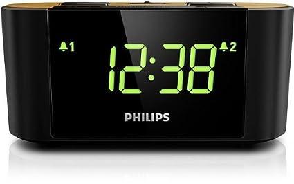 Philips AJ3570/12 Radio Reloj Despertador (FM / AM, cubierta hecha de bambú