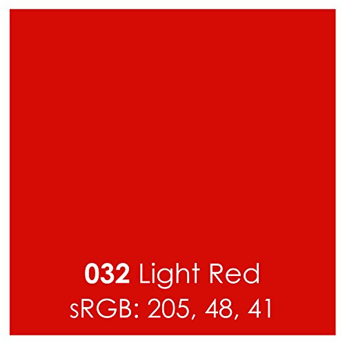 Red Light Permanent (5 Sheets Oracal 651 Permanent, Adhesive Backed, Craft Vinyl Sheets 12