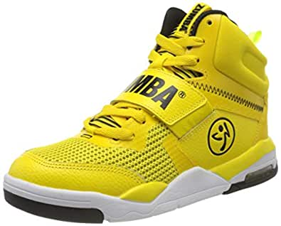 Zumba Air Classic High Top Shoes Dance Fitness Workout Sneakers for Women, Yellow 0, 5
