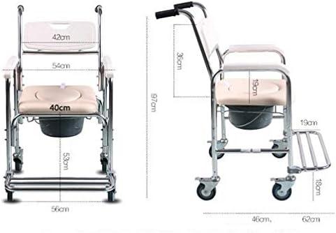 Bbhhyy Toilettenstuhl Senioren Hocken Stuhl Hause Mit Rad WC Ältere Schwangere Frauen Bad Stuhl Toilette Hocker