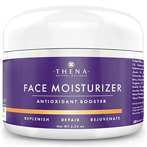 Organic Face Moisturizer For Dry Sensitive Combination Skin, Best Natural Anti aging Face Cream Wrinkle Cream Hyaluronic Acid Serum Moisturizing Face Lotion Daily Eye & Facial Care Women Men