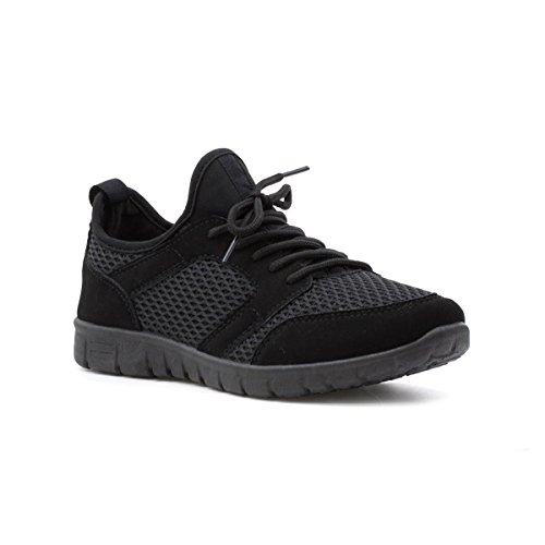 Lilley Womens Trainer Black Black Mesh ZwgRAZq6