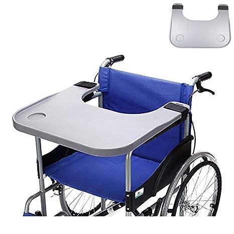 Médico silla de ruedas LAP bandeja accesorios con portaVasos, silla de niño portátil bandejas universales escritorio apto para sillas de ruedas accionadas o ...
