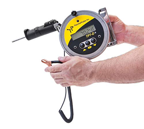 (TP-7D Digital Tank Gauging Thermometer with 75' Cable, Standard Weight Sensor, Standard Markings and NIST traceable, ISO/IEC 17025 Accredited Report of Calibration in °Celsius)