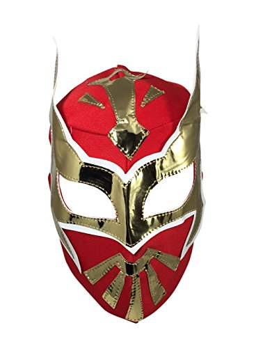 Del Mex Lycra Lucha Libre Adult Luchador Mexican Wrestling Mask Costume (Sin Cara (Red))