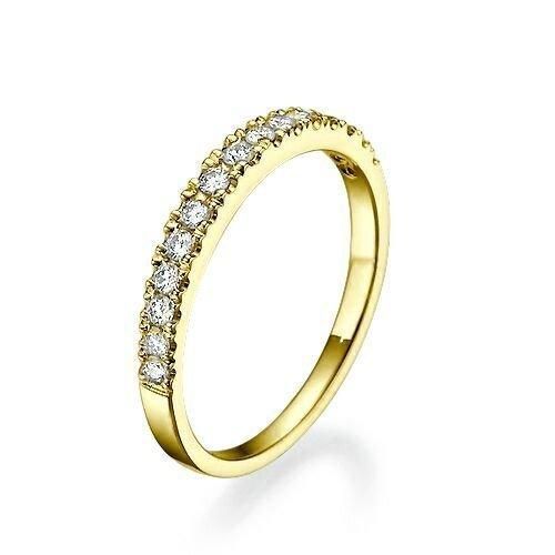 0.17 Ct Diamond (0.17 carat Women Diamond half Eternity Wedding Band Ring for women)