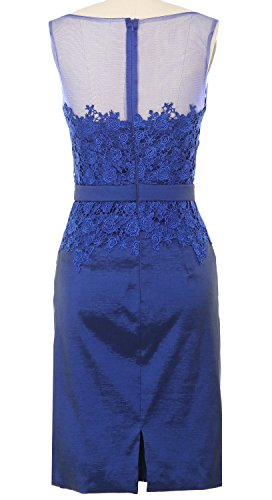 Dress Blue with Lace Evening Gown Royal MACloth Bride Formal Mother of Taffeta Women Jacket pOwE0qYT