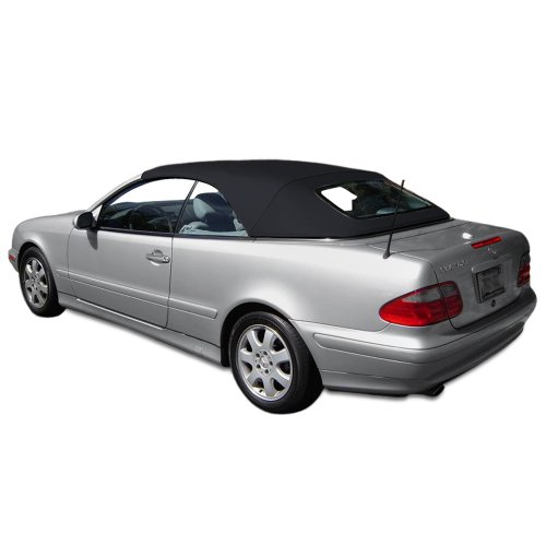 Sierra Auto Tops Convertible Soft Top Replacement, compatible with Mercedes CLK (208) 1999-2003, Stayfast Canvas, Black