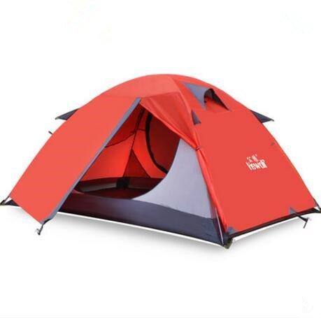 Zelt Outdoor 2 Personen Doppel 2 Camping Camping Equipment DREI Viertel der Wind und Regen Fischen Paar Klettern