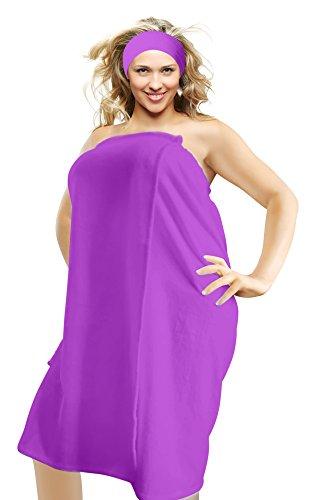 Camo Chique Luxury Spa Wrap Womens & Plus Size S-6X Snap Bath Towel Pink Black Colors