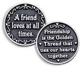 A Friend Loves At All Times Pewter Pocket Token Refill Pack Of 3 (Pocket Token Refill)