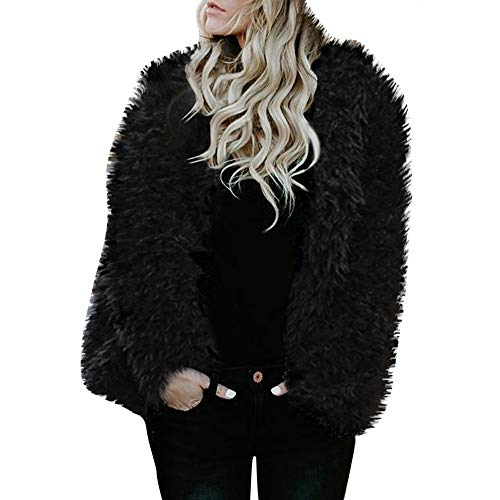 UONQD Clearance! Womens Ladies Warm Faux Fur Coat Jacket Winter Solid Parka Hooded Outerwear -