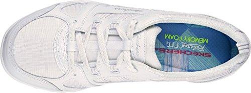 Skechers Sport Frauen atmen einfach viel Glück Fashion Sneaker Weiß