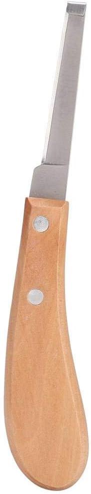 Súper Afilado Cuchillo de pezuña Cuchilla Recta Forma de Acero al Carbono Cuchillo de pezuña Herramienta de Corte para el Uso del Caballo de Ganado