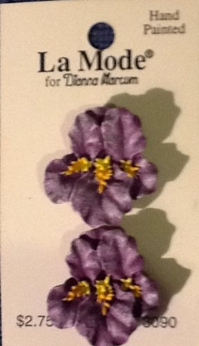 Purple Irises - La Mode Hand-Painted Novelty Buttons, for sale  Delivered anywhere in USA