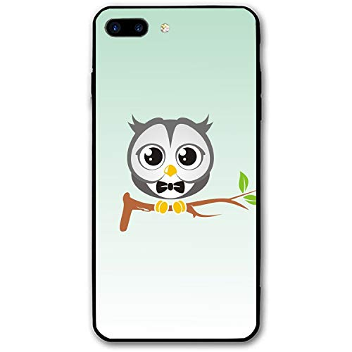 iPhone 7 Plus Case, iPhone 8 Plus Case for Girls, Owl Art Branch Bow Tie Protective Case Hybrid Cover Compatible for iPhone 7 Plus and iPhone 8 Plus ()
