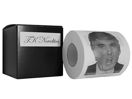 TK Novelties Donald Trump Toilet Paper Roll With Gift Box