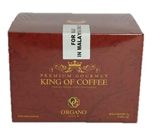 Organo Gold 5 Boxes Ganoderma Gourmet - Gourmet King Coffee (25 sachets) by Organo Gold (Image #1)