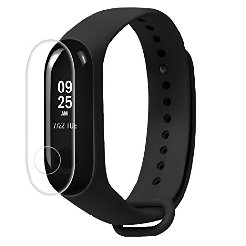 Price comparison product image HD Clear LCD TPU Full Cover Screen Protector Film For Xiaomi Mi Band 3(Pack of 5)
