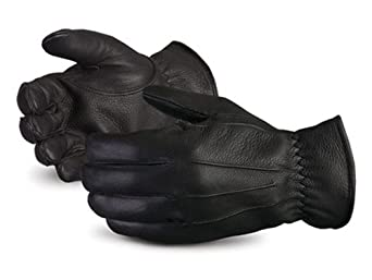 Superior 378BDFTLL Clutch Gear Grain Deerskin Leather Ladies Glove with Winter Thinsulate Lined, Work, Medium, Black (Pack of 1 Pair)